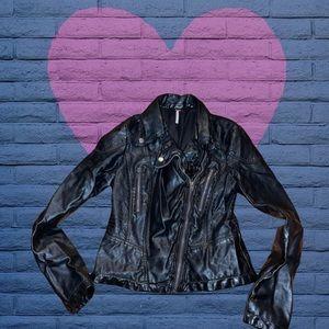 FP faux leather jacket/EUC